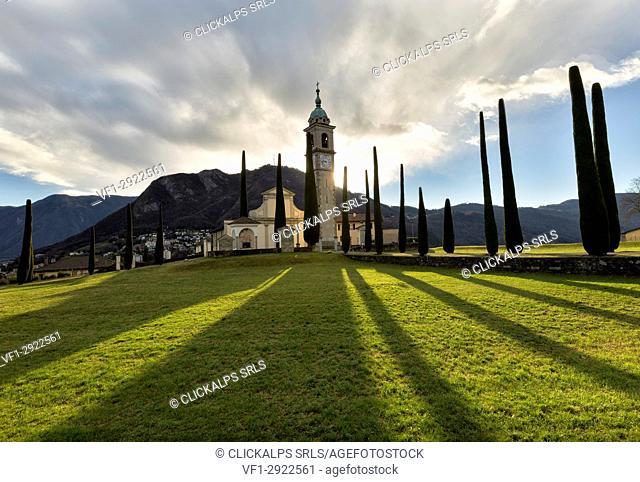Gentilino church in Lugano district,canton ticino, Switzerland ,europe
