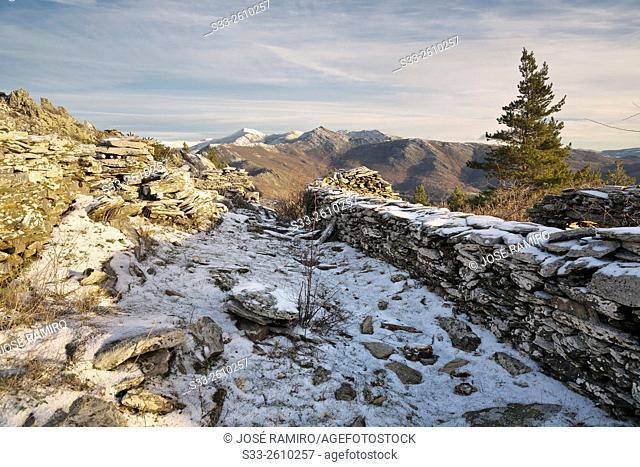 Ruins in Sierra Norte. Montejo de la Sierra. Madrid. Spain. Europe