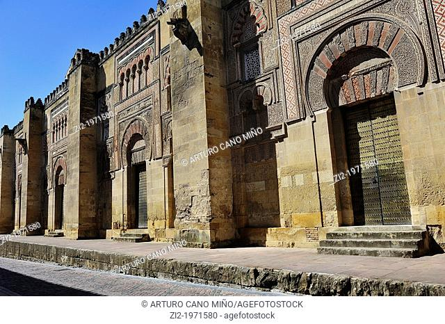 East wall of the Mosque. Córdoba, Spain