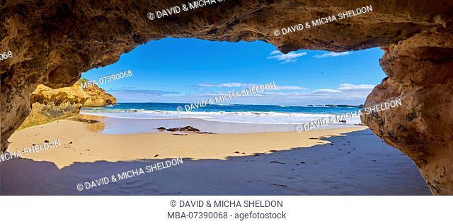Caves at Coastal Beach, Landscape, Great Ocean Road, Port Campbell National Park, Victoria, Australia, Oceania