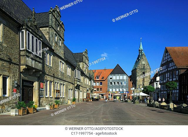 Germany, Stadthagen, Bueckeburger Boerde, Bueckeberg, Bueckeberge, Weserbergland, Schaumburg Forest, Lower Saxony, old city hall, Weser renaissance