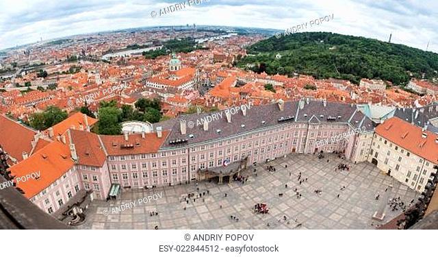 View of Prague Castle square