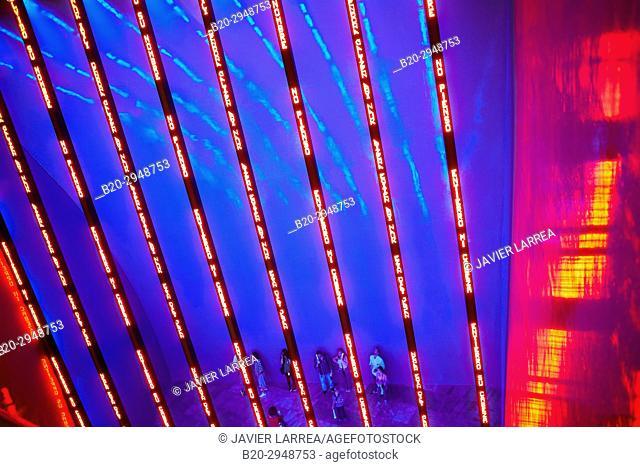 Jenny Holzer, Guggenheim Museum, Bilbao, Bizkaia, Basque Country, Spain, Europe