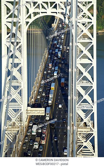 USA, New York City, George Washington Bridge