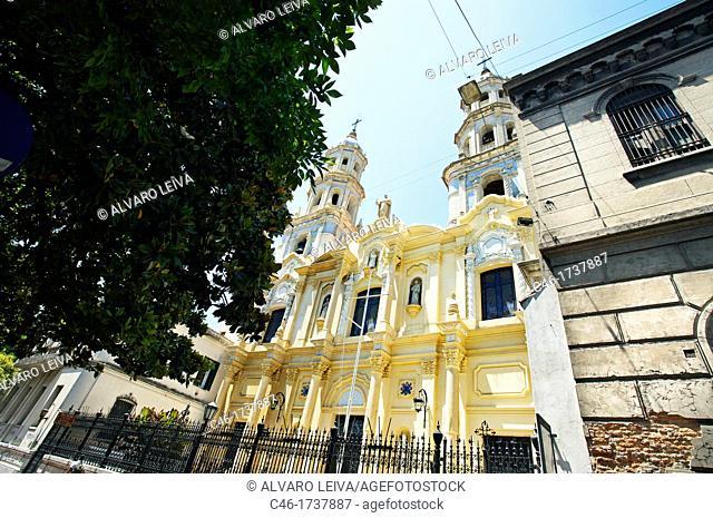Church, San Telmo District, Buenos Aires, Argentina