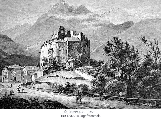 Forst Castle near Meran, Merano, Province of Bolzano-Bozen, Italy, historical picture, about 1893