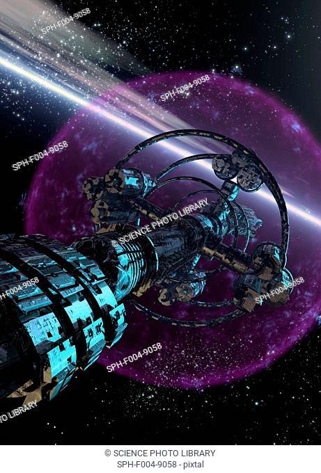 Alien spaceship, computer artwork