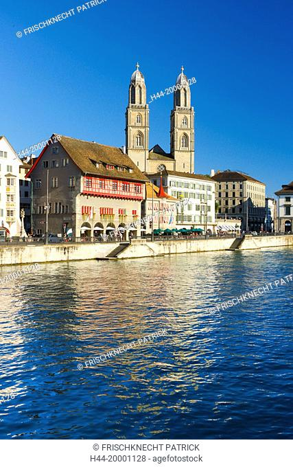 Grossmünster church in Zurich city, Switzerland