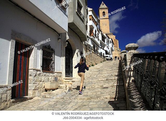 Alcalá del Jucar street, Albacete province, Castilla-La Mancha, Spain