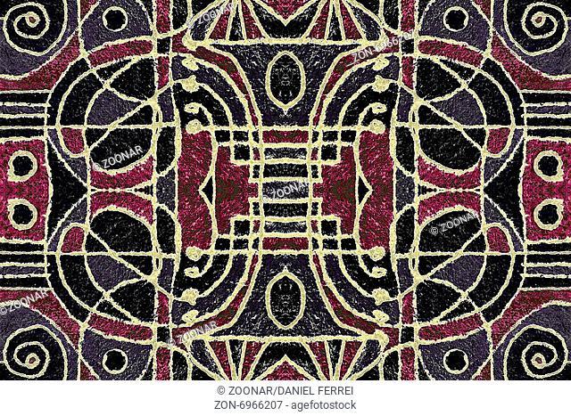 Tribal Geometric Art Pattern