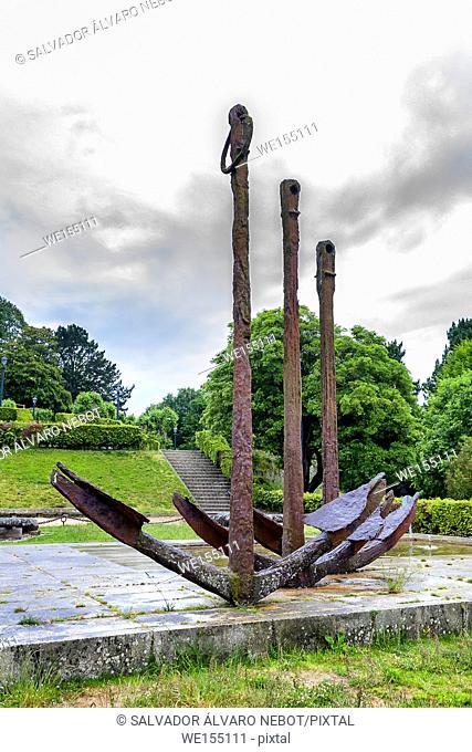 The Anchors of Rande in Monte O Castro, Vigo, Galicia, Spain, Europe