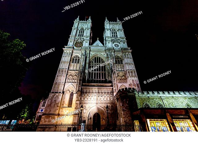 Westminster Abbey At Night, London, England