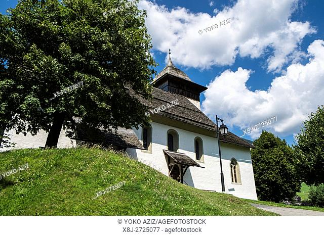 Switzerland, Canton Vaud, Chateau d'Oex, local church