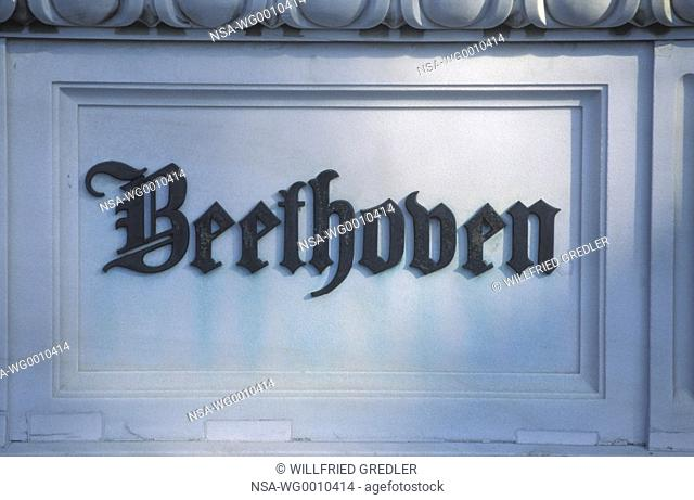 Beethoven honour grave at the central cemetery in Vienna