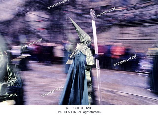 Spain, Galicia, Santiago de Compostela, procession during the Holy Week