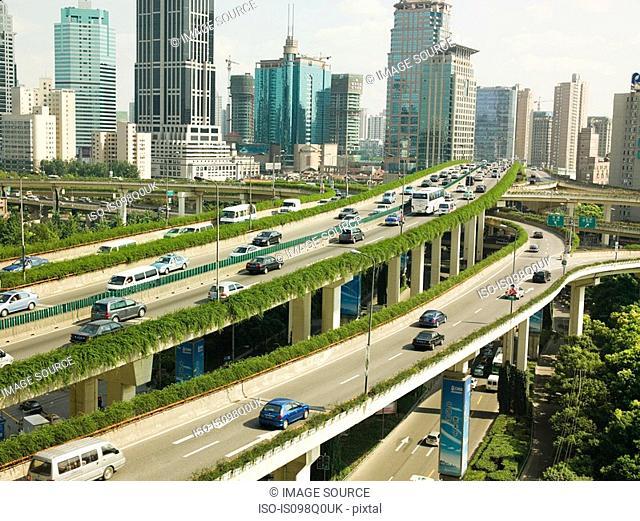 Elevated highway in shanghai