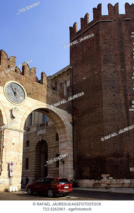 Verona (Italy). Walled area of the city of Verona