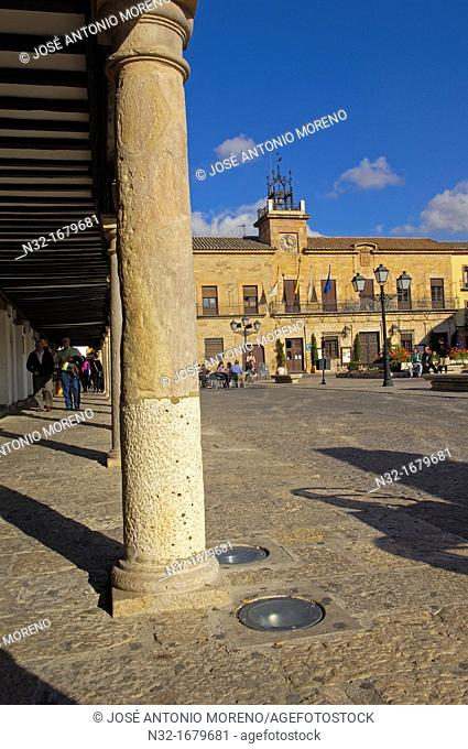 Town Hall, Plaza Mayor Main Square, Almagro, Ciudad Real province, Castilla-La Mancha, Spain, Europe