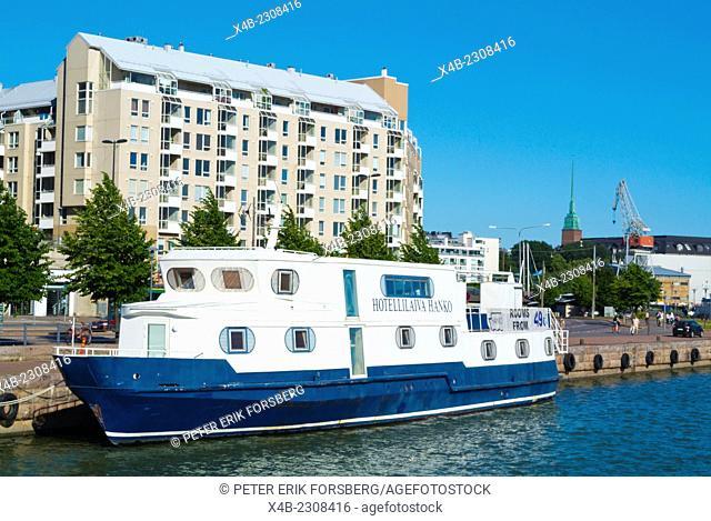 Boat Hotel, Hietalahti bary, Helsinki, Finland, Europe