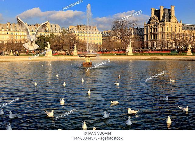 Grand Bassin Octagonal, Tuileries Garden, Paris, France