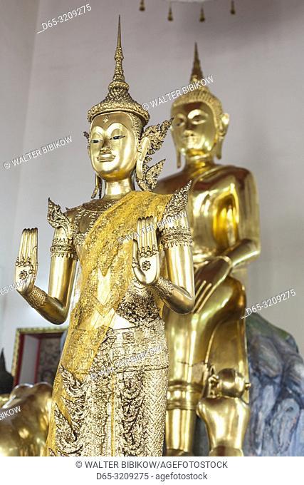 Thailand, Bangkok, Ko Ratanakosin Area, Wat Pho, buddha statue