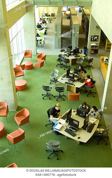 students study at Langara College, Vancouver, BC, Canada