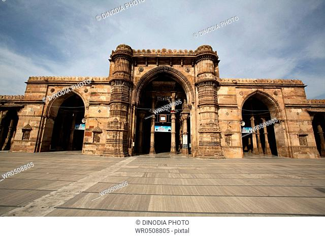 Teen darwaza of jama masjid in 1423 AD , Ahmedabad , Gujarat , India