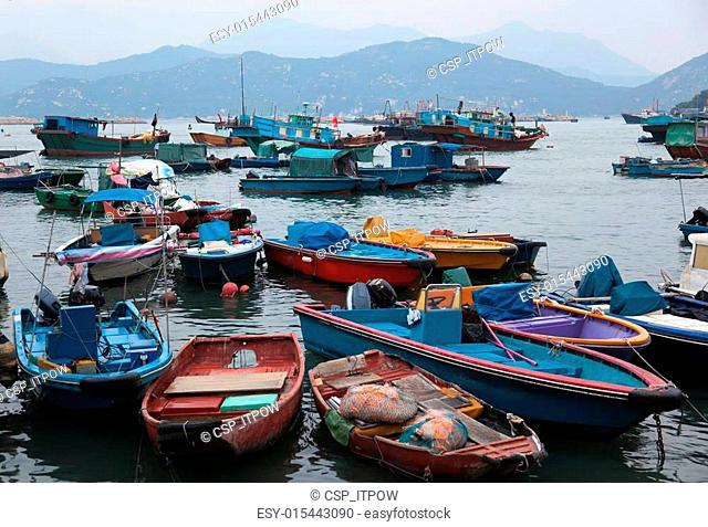 Fishing and house boats. Hong Kong