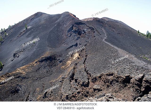 Montana del Fraile volcano, Cumbre Vieja Natural Park. La Palma Island, Santa Cruz de Tenerife, Canary Islands, Spain
