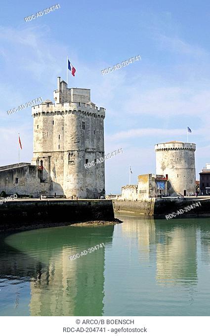 Tour Saint Nicolas, Tour de la Chaine, La Rochelle, Charente-Maritime, Poitou Charentes, France, Tour de la Lanterne, St Nicolas