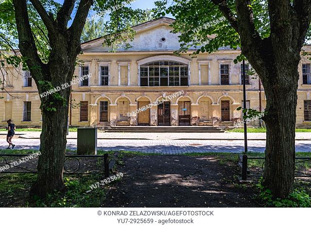 Former military hospital in Daugavpils Fortress (also called Dinaburg Fortress) in Daugavpils city, Republic of Latvia