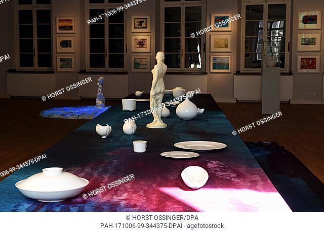 """The special exhibition """"""""Still lifes - Porcelain and watercolors"""""""" of the artist and art collector Gabriele Henkel who passed away on the 28th of September at..."""
