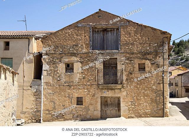 Castillejo de Robledo picturesque village in Soria province Spain