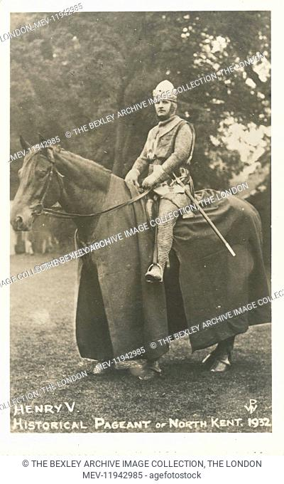 Dartford Division of Kent Historical Pageant which was held at Hall Place, Bexley in July 1932. Henry V