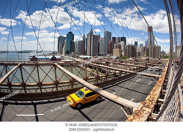 The Brooklyn Bridge, from Brooklyn to Manhattan, NYC, New York