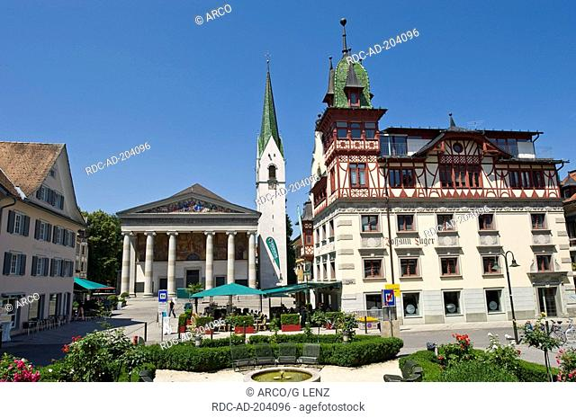 Market place, Dornbirn, Vorarlberg, Austria, Marktplatz