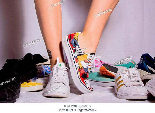 Belgium, Brussels, Oct 31, Sneakers, Adidas, Nike, Jordan, Puma, Vans, Payment, Fashion, Money, Young Girls, Boys, Internet search, online purchase, evolution
