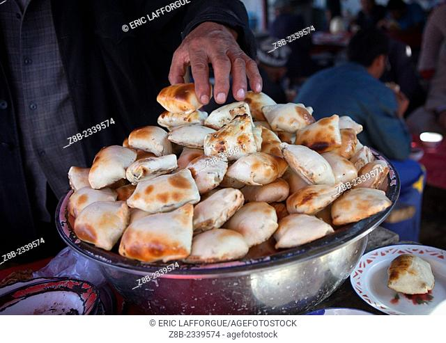 Fresh Samsa, Kashgar Animal Market, Xinjiang Uyghur Autonomous Region, China