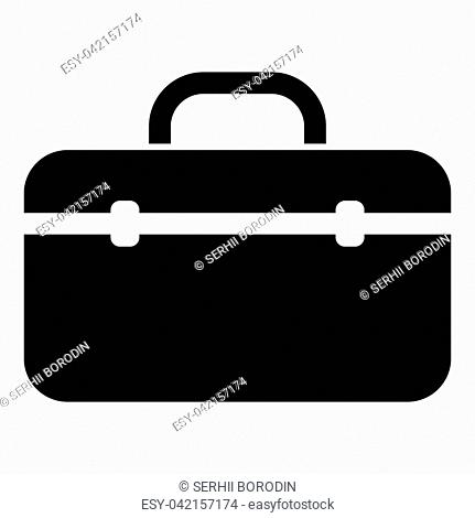 Tool box professional icon black color vector illustration flat style simple image