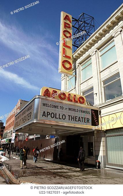 New York City, the Apollo Theater, Harlem, Uptown Manhattan
