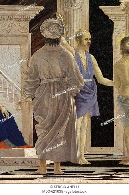 The Flagellation of Christ, by Pietro di Benedetto dei Franceschi known as Piero della Francesca, 15th Century, 1453 -1460 about
