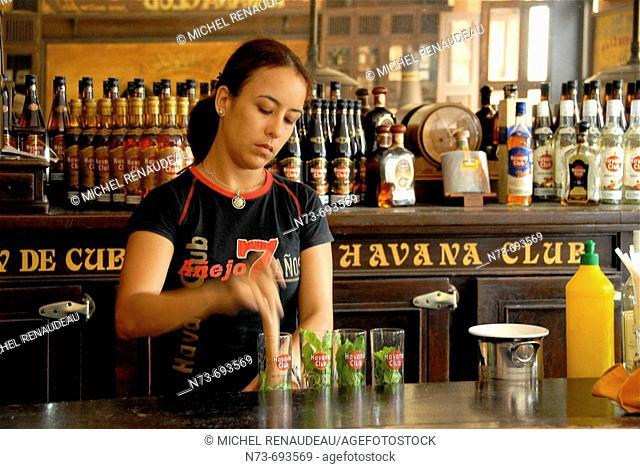 Havana Club rum, Havana. Cuba