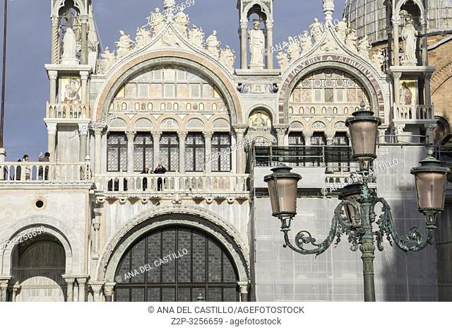Venice, Veneto, Italy: St Mark's Basilica (San Marco) at St Marks square