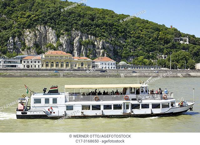 Budapest, Hungary, Central Hungary, Budapest, Danube, Capital City, Rudas Baths at the Danube riverbank in Buda in front of the Gellert Hill