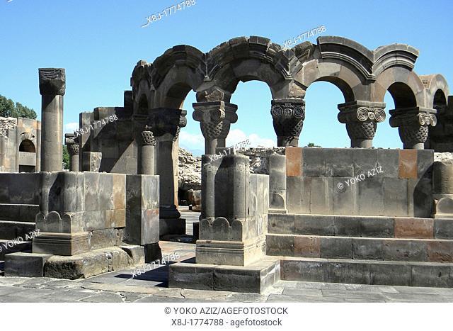 Armenia, Yerevan, Zvartnots cathedral