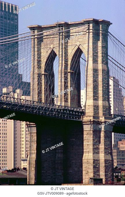 Brooklyn Bridge, Detail, New York City, New York, USA, August 1961