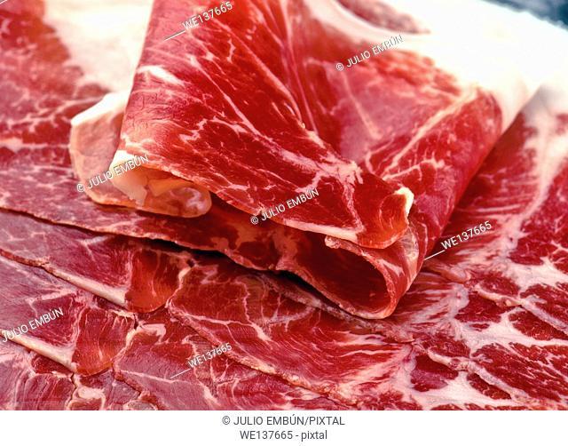 """Iberian ham slices; """"""""of acorn"""""""""""
