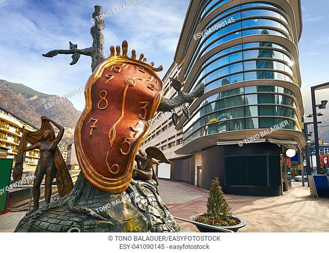 Andorra la Vella Salvador Dali Noblesse du Temps sculpture in Pyrenees