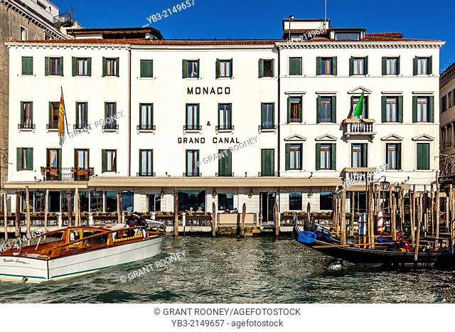The Monaco Grand Canal Hotel, The Grand Canal, Venice, Italy