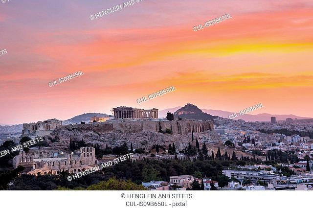 Ruins of the acropolis, Athens, Attiki, Greece, Europe
